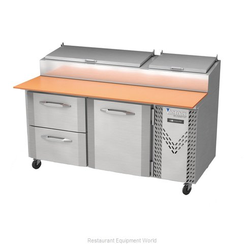 Victory VPPD67-2 Refrigerated Counter, Pizza Prep Table