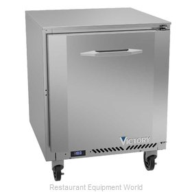 Victory VUF27HC Freezer, Undercounter, Reach-In
