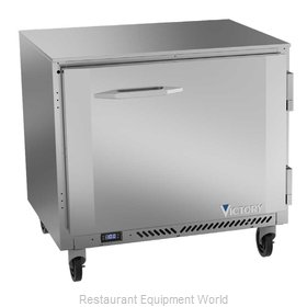 Victory VUF36HC Freezer, Undercounter, Reach-In