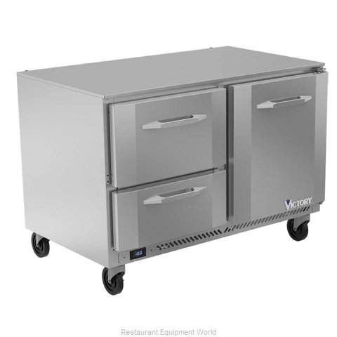Victory VUFD48HC-2 Freezer, Undercounter, Reach-In (Magnified)