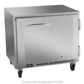 Victory VUR36HC Refrigerator, Undercounter, Reach-In