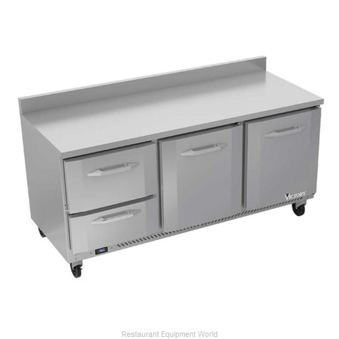 Victory VWRD72HC-2 Refrigerated Counter, Work Top