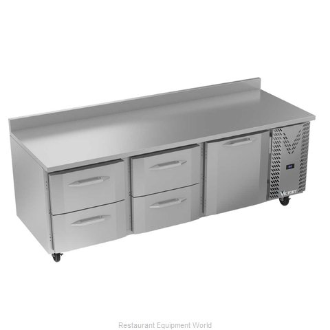 Victory VWRD93HC-4 Refrigerated Counter, Work Top