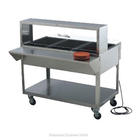 Vollrath 38045 Overshelf, Table-Mounted (Magnified)