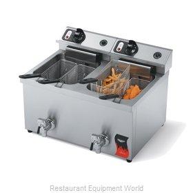 Vollrath 40710 Fryer, Electric, Countertop, Split Pot