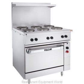 Vulcan-Hart EV36-S-2FP24G480 Range 36 2 round French plates and 1-24 griddle