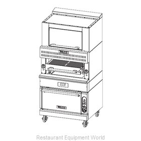 Vulcan-Hart VBB1BF Broiler, Deck-Type, Gas