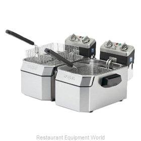 Waring WDF1000BD Fryer, Electric, Countertop, Split Pot