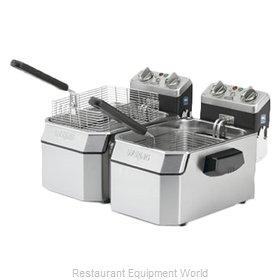 Waring WDF1550D Fryer, Electric, Countertop, Split Pot