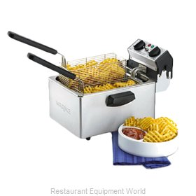 Waring WDF75B Fryer, Electric, Countertop, Full Pot