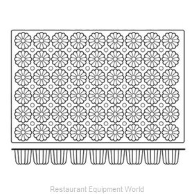 Paderno World Cuisine 47678-02 Baking Sheet Pastry Mold Flexible