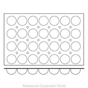 Paderno World Cuisine 47678-03 Baking Sheet Pastry Mold Flexible