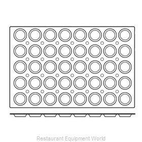 Paderno World Cuisine 47678-04 Baking Sheet Pastry Mold Flexible