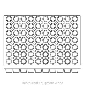 Paderno World Cuisine 47678-07 Baking Sheet Pastry Mold Flexible