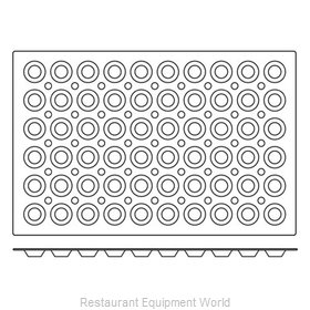 Paderno World Cuisine 47678-08 Baking Sheet Pastry Mold Flexible