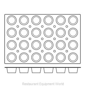 Paderno World Cuisine 47678-09 Baking Sheet Pastry Mold Flexible