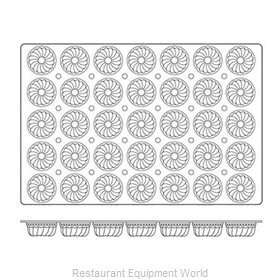Paderno World Cuisine 47678-11 Baking Sheet Pastry Mold Flexible