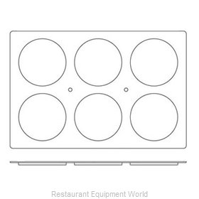 Paderno World Cuisine 47678-12 Baking Sheet Pastry Mold Flexible