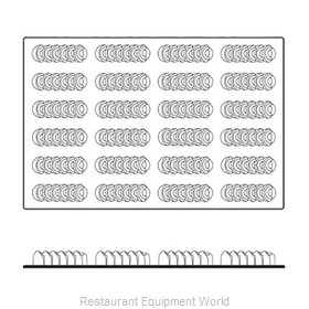 Paderno World Cuisine 47678-28 Baking Sheet, Pastry Mold, Flexible