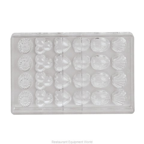 Paderno World Cuisine 47860-09 Butter Candy Mold Flexible