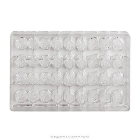 Paderno World Cuisine 47860-10 Butter Candy Mold Flexible