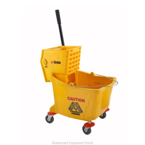 Winco MPB-36 Mop Bucket Wringer Combination (Magnified)