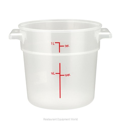 Winco PTRC-1 Food Storage Container, Round