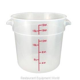 Winco PTRC-18 Food Storage Container, Round