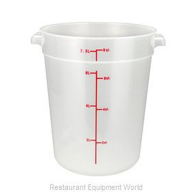 Winco PTRC-8 Food Storage Container, Round