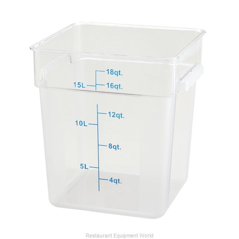 Winco PTSC-18 Food Storage Container, Square
