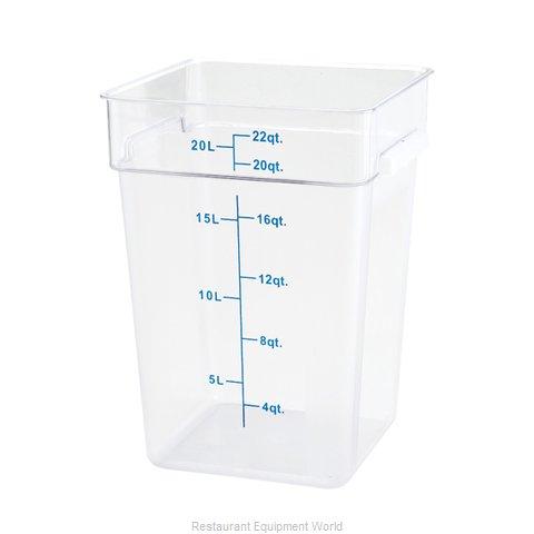 Winco PTSC-22 Food Storage Container, Square