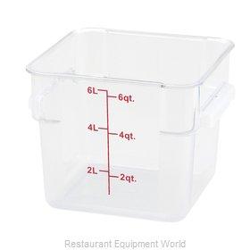 Winco PTSC-6 Food Storage Container, Square