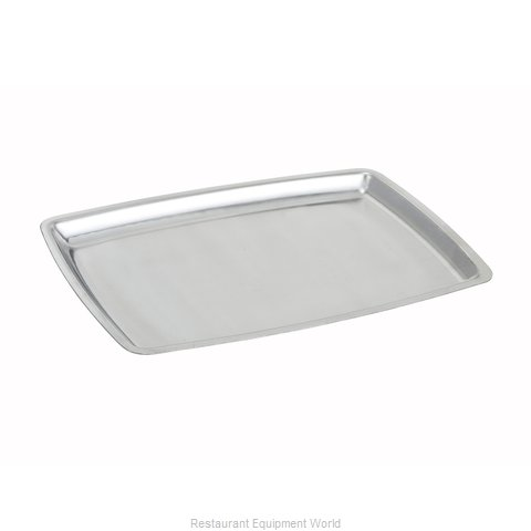 Winco SIZ-11B Stainless Steel Platter (Magnified)