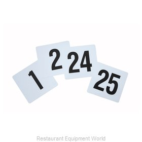 Winco TBN-25 Table Numbers Cards