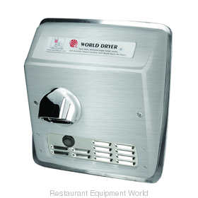 World Dryer DXRA52-Q973 Model A Recessed Mount Hand Dryer
