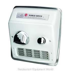 World Dryer RA5-Q974 Model A Recessed Mount Hand Dryer