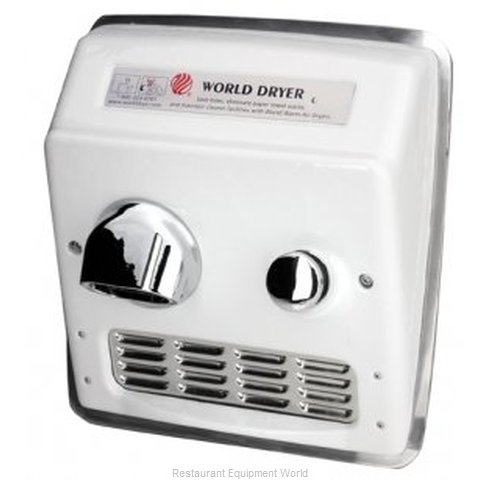 World Dryer RA5 Recessed Mount Hand Dryer (Magnified)