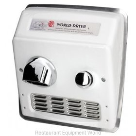 World Dryer RA7 Recessed Mount Hand Dryer