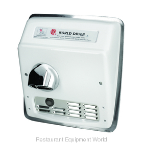 World Dryer XRA52-Q974 Model A Recessed Mount Hand Dryer