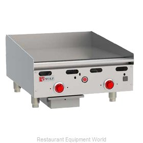 Wolf Range ASA24 Griddle, Gas, Countertop