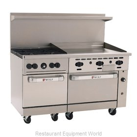 Wolf Range C60-SS-4B-36GT Range 60 4 Open Burners 36 Griddle w thermostat