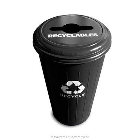 Witt Industries 10/1CTBK Waste Receptacle Recycle