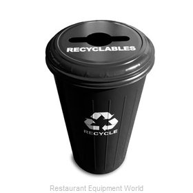 Witt Industries 10/1CTBK Waste Receptacle Recycle