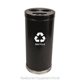 Witt Industries 15RTBK Waste Receptacle Recycle