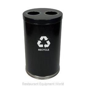 Witt Industries 18RTBK-2H Waste Receptacle Recycle