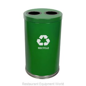 Witt Industries 18RTGN-2H Waste Receptacle Recycle
