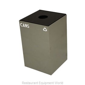 Witt Industries 24GC02 SL GeoCube Recycling Receptacle with Slot Opening