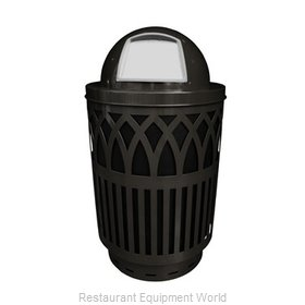 Witt Industries COV40-DT-BK Waste Receptacle Outdoor