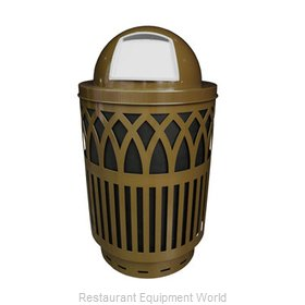 Witt Industries COV40-DT-BN Waste Receptacle Outdoor
