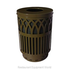 Witt Industries COV40-FT-BN Waste Receptacle Outdoor